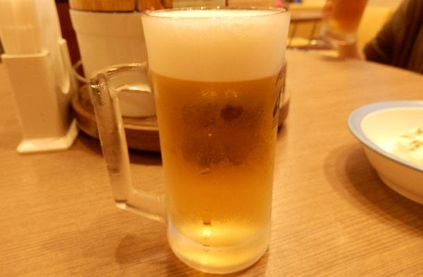 生ビール(150円)