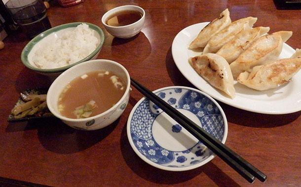 餃子(ほたて)セット(760円)