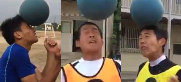 「重いボールでヘディング」するとなぜだか「おもしろい」