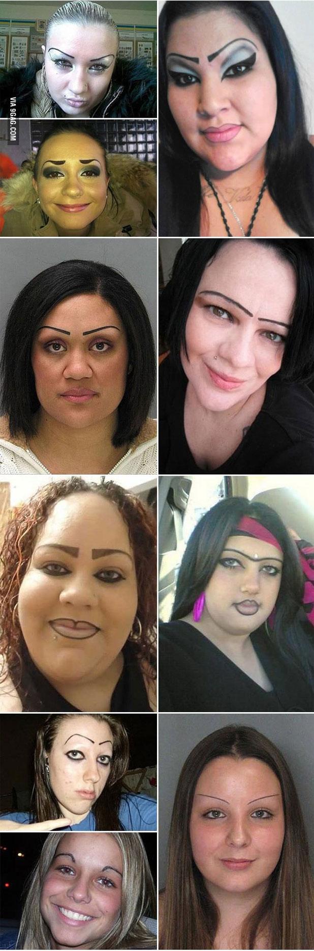 個性的な「眉毛」をしている女性たち