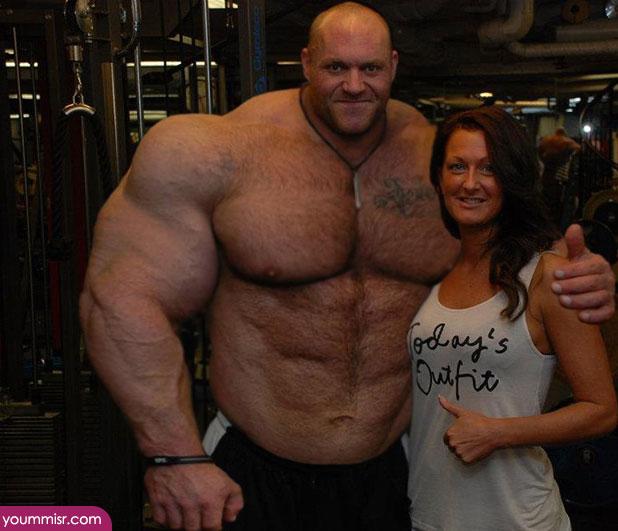 ファンの女性と「筋肉」