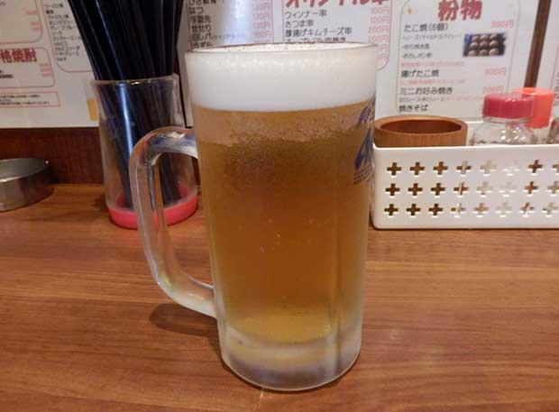ビール(290円)