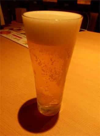 グラスビール(2oo円)