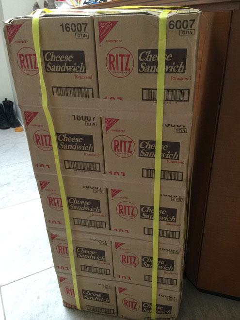 「リッツ」が10個くる予定が10箱