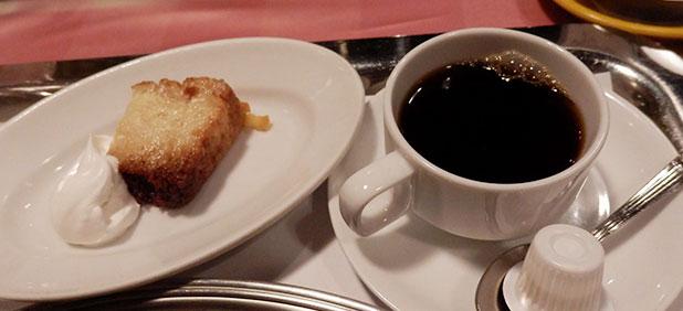 「デザート」と「コーヒー」